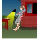 Не используйте бытовые приборы и светильники на открытом воздухе